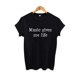 Donne t shirt en Ligne-Femmes Tee Musique Give Me Life T Shirt Femmes Tumblr Hipster Punk Rock Vêtements 2017 Mode Rue Harajuku Tshirt Femmes Tee Shirt
