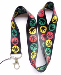 Wholesale Maple Leaf Charms Wholesale - Free shipping, 20pcs lot NEW Black Bob Maple Leaf Neck Lanyard Strap Cell Mobile Phone ID Card Key chain charms