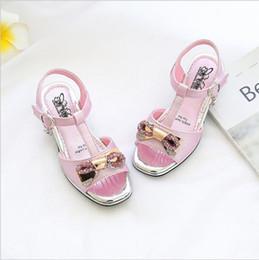 Wholesale Little Girls Heels - Girls Sandals 2018 Summer New Korean Child Soft bottom Baby Child Student Shoes Little girl Sandals