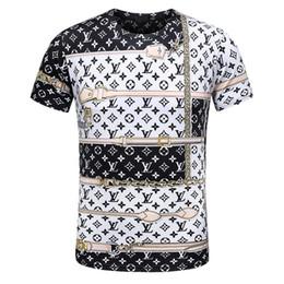 Wholesale modal tees tops - Wholesale men luxury diamond design Tshirt fashion t-shirts men funny t shirts brand cotton tops and tees D07