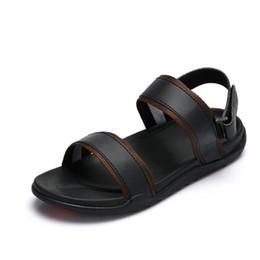 Wholesale Open Shoes Trend - 2018 summer new style leather sandals Roman men's sandals men's beach shoes casual trend Vietnam shoes