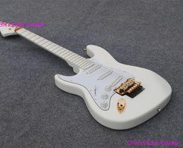 Wholesale Guitar Pickups White - 2018 left handed guitar Deep Scalloped Fretboard, 3 single Noiseless Pickups, Fat ST Body all white Finish, Malmste Yngwie lefty hand guitar