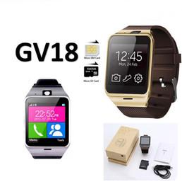 Assistir tela quadrada on-line-GV18 NFC Aplus relógios inteligentes com Tela de Toque Quadrado da Câmera Smartwatch Telefone com Slot Para Cartão SIM relógio inteligente para IOS Android