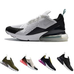 Wholesale womens spiked sneakers - 2018 new Medium Mens and women Flair Triple 270 AH8050 Photo Blue Trainer Sports Running Shoes Womens sole 270 Sneakers 36-45