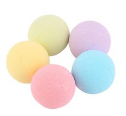 Olio da bagno spa online-BOT Bubble Bath Bombs 40g Rose Cornflower Lavanda Oregon Olio essenziale Lush Fizzies Sali profumati al mare Palle Handmade SPA