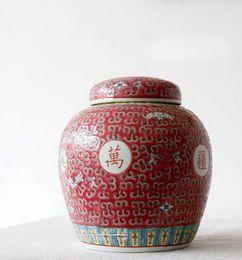 Wholesale Colored Glaze - Antique colored glazing storage decorative storage jar