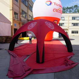 Lightweight Inflatable Event Dome Tent Portable Air Dome Tent Spider Promotion Gazebo with Custom Printing and Base Blower Dia0.4x3.6x2.5H m