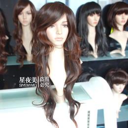 Canada WJIA99601 jolie sexy longue brune mix cheveux bouclés perruque de santé pour les femmes perruque cheap pretty wigs for women Offre