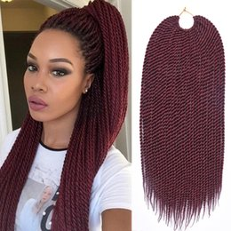 "Wholesale Crochet Braided Hair - TOMO Hair 14""16""18""20""22"" 30Strands Pack Senegalese Twist Crochet Braids Kanekalon Synthetic Small Crochet Braids Braiding Hair Extensions"
