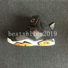 Wholesale mens pu jackets - 2018 Denim 6s Jeans 6 Blue Black Denim Jacket White Men Basketball Shoes Top Quality Mens Trainers Zapatos Sneakers Size 7-13