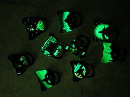 Argentina Soporte del anillo del teléfono de la historieta Efecto luminoso agarre del soporte del teléfono celular del coche de metal para el soporte del iphone X resplandor en los sostenedores del gato oscuro del anillo Suministro