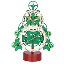 Рождественские часы онлайн-Gear Clock Quartz Movement Bracket clock Eenvironmental Protection Materials Living room decoration Christmas Gifts
