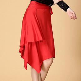 Wholesale Latin Dancewear - Lady Latin Dance Skirt For Sale Red Black Leopard Cha Cha Rumba Samba Tango Dresses For Dancing Practice Performamnce Dancewear
