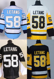 ac13f697c 2015 Wholesale Cheap Hockey Jersey Color Black White  58 Chris Letang Jersey  Winter Classic 100% Stitched