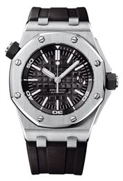 Capas de luxo para homens on-line-TOP venda Relógio de luxo Aço Inoxidável Borracha Cor bracelete mecânico automático Men Mens Relógios 15703ST