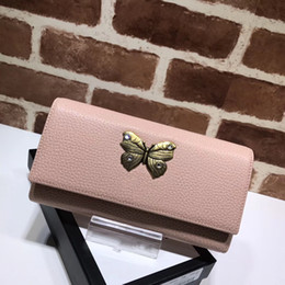 Wholesale Metal Cell Phone Covers - 2017 new fashion brand women handbag high quality original material cover purse butterfly metal decoration leather purse luxury bag