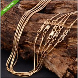 Wholesale Gold Serpentine Chain - Hot sale jewelry 18K gold-plated snake bone chain necklace High-quality gold-plated snake bone serpentine chain 16-inch - 30 inches Free shi