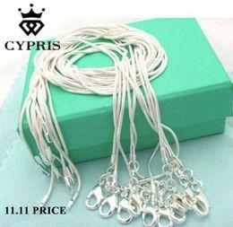 2018 détail 16 18 20 22 24 pouces en vrac c008 mode argent 1MM chaîne accessoires de bijoux de serpent conclusions timbre CYPRIS ? partir de fabricateur