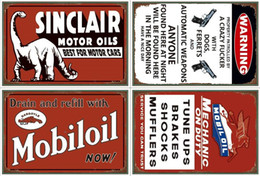 Wholesale routed signs - Champion Shell Motor Oil Garage Route Vintage TIN SIGN Old Wall Metal Painting ART Bar,Pub, restaurant home Decoration