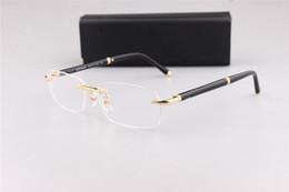 Occhiali da vista da uomo classici marca 374 business senza montatura per occhiali da vista con confezione originale outlet marchio OME da