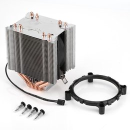 Wholesale cpu fan quiet - 4 Heatpipe CPU Heat Pipe Radiator Quiet 3pin CPU Cooler Heatsink for Intel LGA775   1150 1151 1155 1156 for AMD 2 3 Fan Cooling