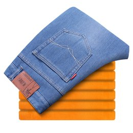 Wholesale Cashmere Jeans - Man winter Jeans men's warm cashmere jeans Plus cashmere warm 28-38