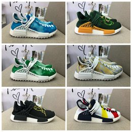 Wholesale pw black - Men and Women Running Shoes Originals PW Human Race NMD Trail Shoe Men and Women Hiking Fashion Street Culture High Quality Outdoor Sneakers