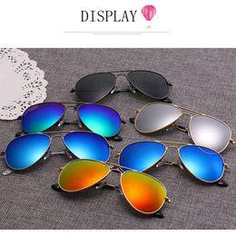Wholesale Kids Polarized Sunglasses - Vintage Kids Gemajing Sunglasses Metal Frame Eyewear Children Beach Polarizing Sun Glasses Outdoor Goggles Retro UV400 Protection AAA68