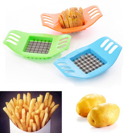 Wholesale French Fruits - 1Piece French Fry Potato Chip Cut Cutter Vegetable Fruit Slicer Chopper Chipper Blade Easy Kitchen Tools