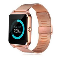 Tf bracelet en Ligne-Montre intelligente GT08 Z60 Hommes Femmes Bluetooth Poignet Soutien Smartwatch SIM / Carte TF Montre-bracelet Pour Apple Android Phone PK DZ09