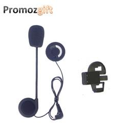 Wholesale Earphones For Motorcycle - 1 set Earphone&Clip for KIE Intercomunicador Bluetooth Para Motocicleta BT Bluetooth Motorcycle Helmet Intercom Headset