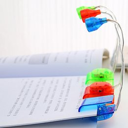 Mini Portable Led Book Reading Light Clip Lamp For Laptop PC Music Stand Flexible Luminaria De Mesa Random Color