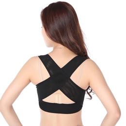 Fascia di spalla per la postura online-Lady Chest Brace Support Cintura fascia Postura Correttore X Tipo Spalla posteriore Vest Protector Vestiti Body Sculpting Strap Top