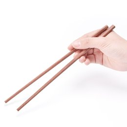 Wholesale Red Dinnerware - 5 pairs Natural Wooden Chopsticks Health Red Sandalwood Without Lacquer Wax Tableware Dinnerware Bamboo