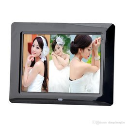 2019 manuel de carte sd Mode ultra-mince 8 pouces haute définition cadre photo numérique LED cadre photo électronique lecteur complet format vidéo lecteur vidéo