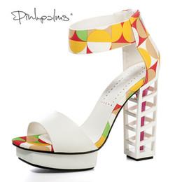 93e7577ea7 Pink Palms mulheres verão sapatos senhoras plataforma metálica sapatos sexy  sandálias de salto alto partido mulheres sandálias de plataforma saltos da  ...