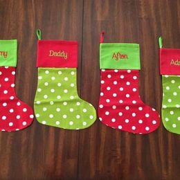 Canada Brand New 19 Modèles De Noël Bas Brodé Personnalisé Bas Cadeau Sac De Noël Arbre De Bonbons Ornement Famille Vacances Bas Offre