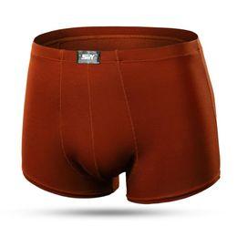 Wholesale Men Underwear Buttons - HI. Sexy Men Boxer Soft Breathable Underwear Male Comfortable Solid Panties Underpants Cueca Boxers