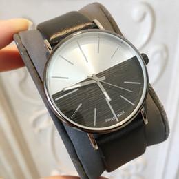 Sıcak Öğeler 2018 Üst Marka Adam Deri İzle Ünlü tasarımcı 5 Renkler siyah Japonya Hareketi Lüks Kuvars Saat Toptan Fiyat drop shipping supplier famous brand watches for men nereden ünlü marka erkekler için saatler tedarikçiler
