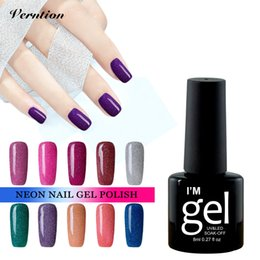 Wholesale Cheap Uv - Wholesale- Verntion Cheap Price Camouflage Gel Polish Nail Polish for Winter Nail Decoration 8ml Shining Neon UV Gel Varnish lucky