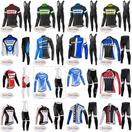 Wholesale Giant Thermal Fleece Jersey - GIANT Cycling Winter Thermal Fleece jersey (bib) pants sets outdoor Cycling Clothes Bike Wear Comfortable Breathable Hot New D1202