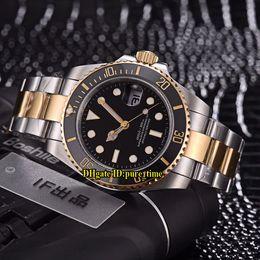 Barato Nuevo 116613-LN-97203 116613 Fecha HK 2813 Automático Negro Dial Zafiro Reloj para hombre Cerámica Bisel Acero inoxidable Banda Relojes de caballero desde fabricantes
