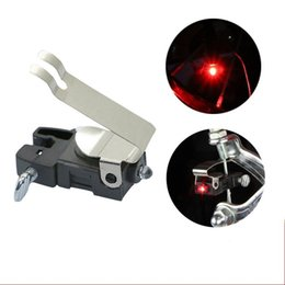 Wholesale Cycle Brakes - Folding Bicycle Brake Lights Stainless Steel Shrapnel Waterproof Bike LED Light High Brightness Useful Cycling Accessories 2 5dn B
