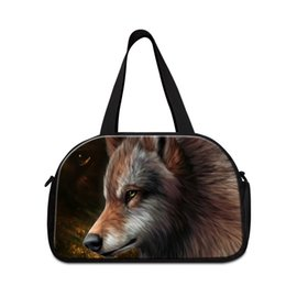 Wholesale cool shoes for boys - Latest cool travel tote bags for men shoulder sporty bags for boys wolf workout duffle bag with shoe pocket large handbag travel