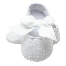 Newborn White Bowknot Dot First Walker Baby Girl Lace Shoes Prewalker Anti-slip Simple Baby Shoes Fashionable In Style;