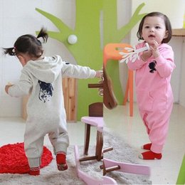 Wholesale Newborn Clothes For Girls - Spring Baby Rompers Baby Clothing for Newborns Baby Infant Jumpsuits Boys Girls Clothes with Hat 1pcs Freeshipping