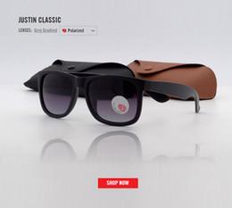Canada nouvelle marque classique noir polarisé lunettes de soleil hommes conduite lunettes de soleil pour homme lunettes de soleil lunettes avec boîte Oculos gradient lunettes de soleil gafas justin Offre