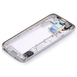 2019 telaio centrale di samsung s5 Cornice centrale in argento con cornice centrale per Samsung Galaxy S5 SV i9600 sconti telaio centrale di samsung s5