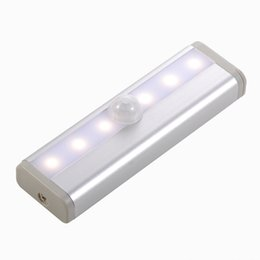 Capteur de mouvement LED Cabinet light 6LEDs Portable lampe de mur Rigide Strip Bar Light pour Armoire Cuisine Garde-robe Livraison Gratuite 2pcs / Lot ? partir de fabricateur