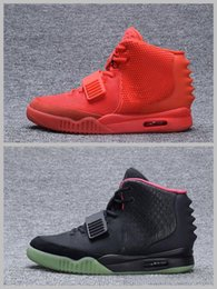 Wholesale Glow Day - 2018 Kanye West Shoes NRG Red Octobers Shoes Gamma Blue Glow In The Dark Women And Mens Kanye West 2 Basketball Shoes 8-12
